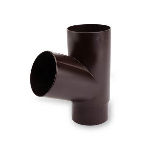 Трійник-труби-ПВХ-67-гр-темно-коричневий