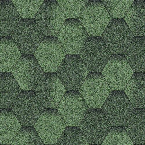Бітумна черепиця AQUAIZOL Мозаїка зелена ЕКО
