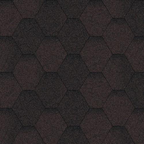 Бітумна черепиця AQUAIZOL Мозаїка коричнева ЕКО