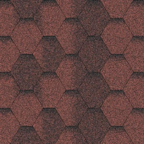 Бітумна черепиця AQUAIZOL Мозаїка червона ЕКО