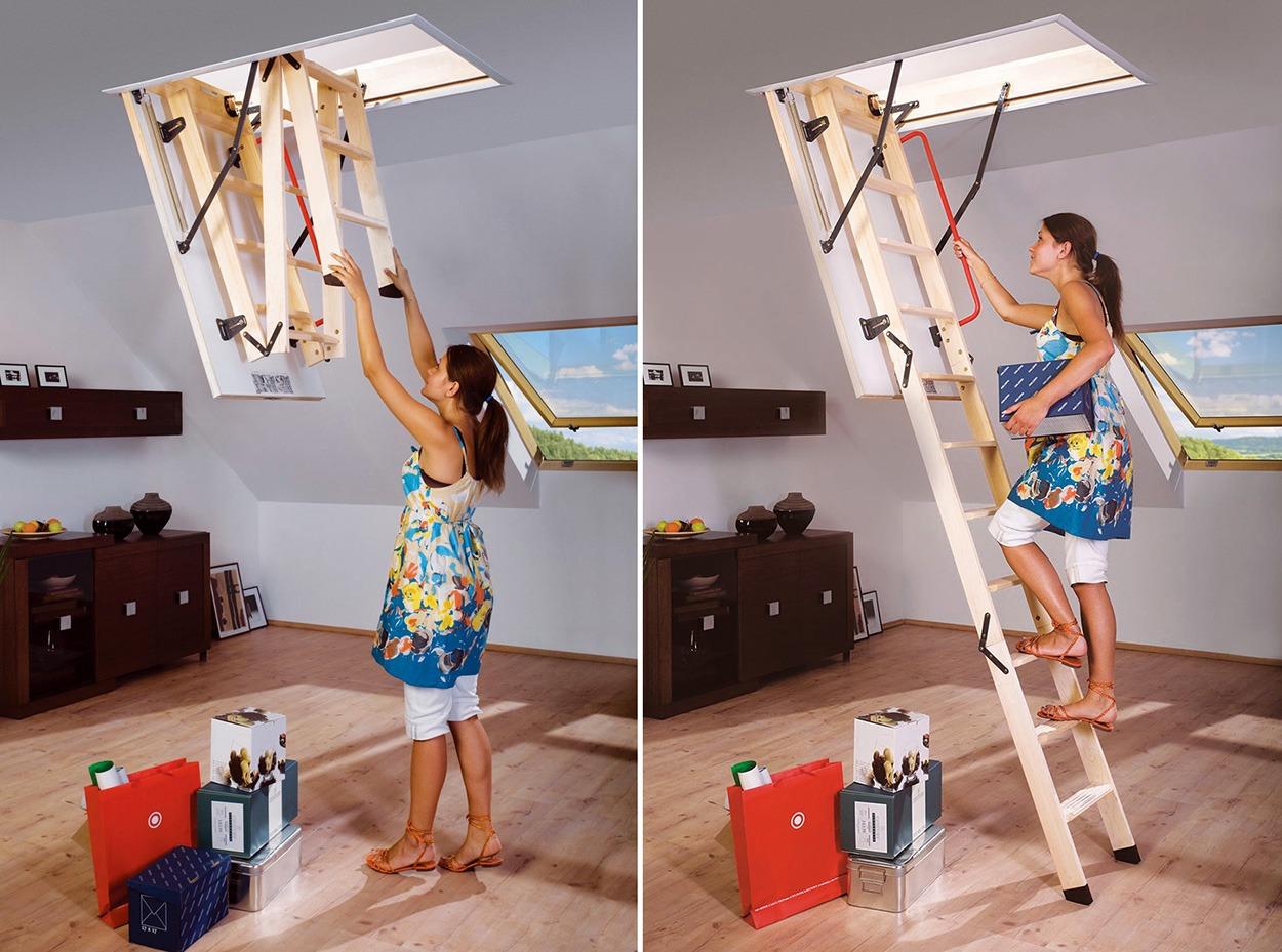 Чердачные лестницы - удобство и безопасность